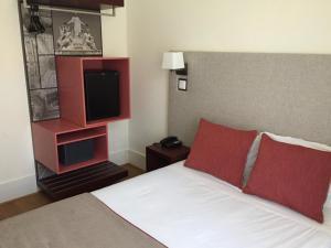 Cama o camas de una habitación en Hotel Dublin