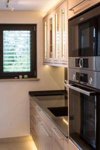 Kuchyň nebo kuchyňský kout v ubytování Arka plan