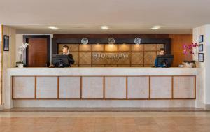 De lobby of receptie bij H10 Tindaya