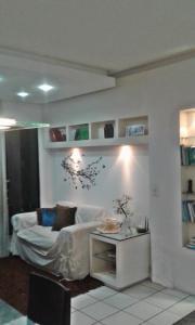 A seating area at Apartamento Fortaleza.