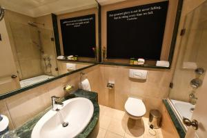 A bathroom at Le Bristol Hotel Beirut
