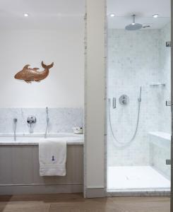 Ein Badezimmer in der Unterkunft Hotel Tresanton