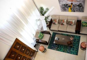 A seating area at MeghBrishti Bari