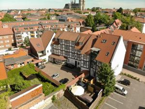 Blick auf Hotel Abtshof aus der Vogelperspektive