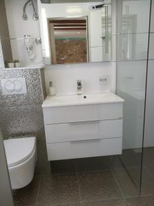 A bathroom at Apartments & Rooms Trogir Stars