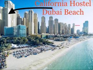 A bird's-eye view of California Hostel Dubai Beach