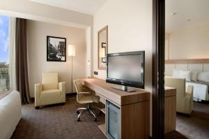 A television and/or entertainment center at DoubleTree By Hilton Milan