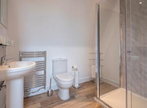 A bathroom at The Poltimore Inn