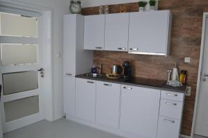 A kitchen or kitchenette at B&B de Burgemeester van Middelburg