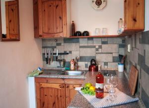 A kitchen or kitchenette at Agropension U háje
