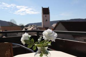 Ein Balkon oder eine Terrasse in der Unterkunft Zum Bräu-Toni