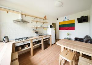 Nhà bếp/bếp nhỏ tại Klaipeda Hostel