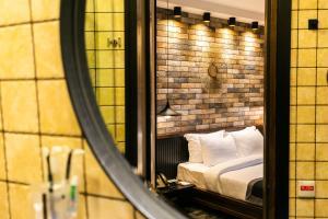 A bathroom at Hotel Adamo
