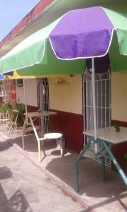 Terrasse ou espace extérieur de l'établissement Hostal Villa Barcelo