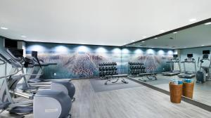 The fitness center and/or fitness facilities at The Shores Resort & Spa