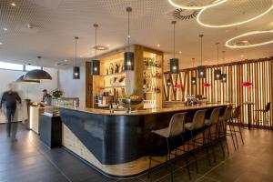 Lounge oder Bar in der Unterkunft AKZENT Hotel Laupheimer Hof
