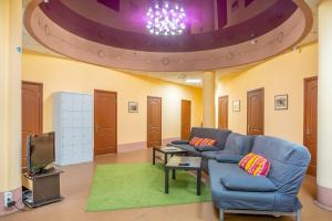 A seating area at Бугров Отель