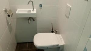 A bathroom at Amsterdam Vondelpark Room