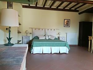 Letto o letti in una camera di Villa Bellaria