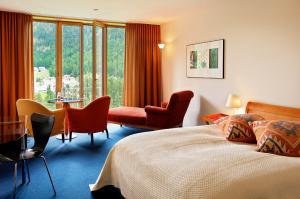 Гостиная зона в Hotel Saratz Pontresina
