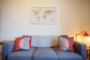 A seating area at Bright, airy flat in the heart of Partick/West end