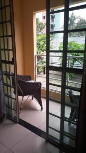 A balcony or terrace at Quarto no Eldorad