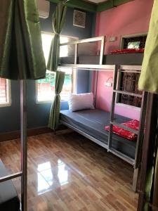 A bunk bed or bunk beds in a room at DownTown Backpackers Hostel