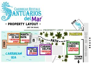 The floor plan of Santuarios del Mar