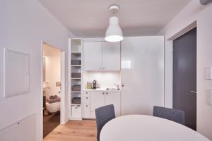 Küche/Küchenzeile in der Unterkunft Home´s