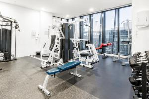 The fitness center and/or fitness facilities at Wake to Eureka Tower Views from Prestigious Collins St
