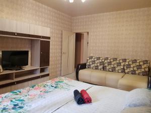 Гостиная зона в Улучшенные апартаменты на Ауре