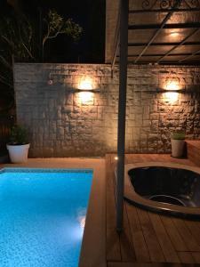 A bathroom at Amazing SeaView luxury villa