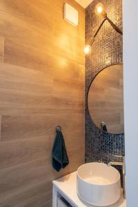 A bathroom at Apartament Zefir Mechelinki