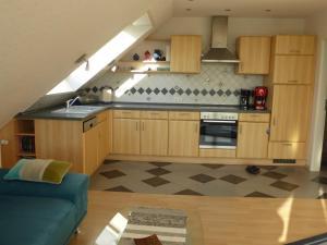 Küche/Küchenzeile in der Unterkunft Ferienwohnung Haus Rita