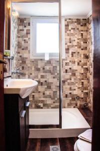 A bathroom at Christina Rooms