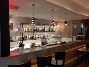 The lounge or bar area at Paritsa Hotel