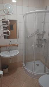 Łazienka w obiekcie Dworek Mitro