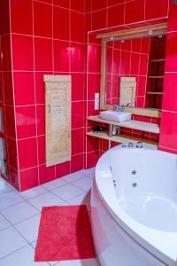 A bathroom at Baron Munchausen Guest House
