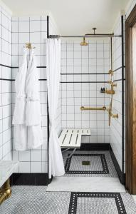 A bathroom at The Ludlow Hotel