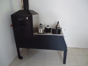 A kitchen or kitchenette at Pousada O Canto do Sabia