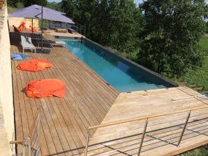 A view of the pool at L'Annexe du Comptoir or nearby