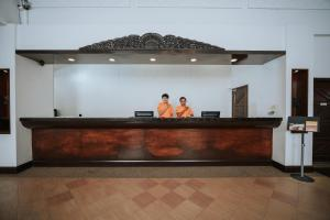 The lobby or reception area at Jerejak Island Resort