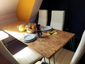 Dining area in the farm stay