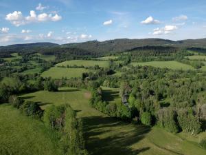 Letecký snímek ubytování Opolenec