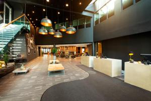 The lobby or reception area at Radisson Blu Hotel Nydalen, Oslo