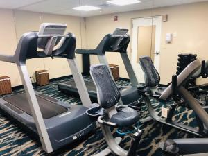 The fitness centre and/or fitness facilities at Quality Inn & Suites Heritage Park