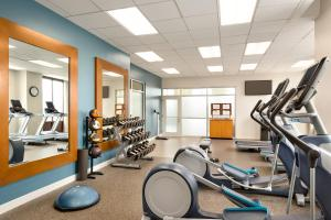 The fitness center and/or fitness facilities at Embassy Suites Boston at Logan Airport