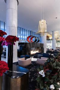 The lounge or bar area at Fairmont Pacific Rim
