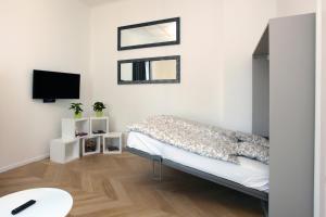 Een zitgedeelte bij The Apartment House - Mezibranska