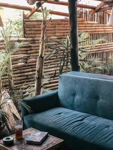 A seating area at Baan Tai Backpackers